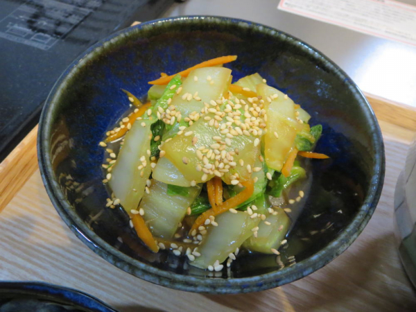 白菜と人参の中華煮