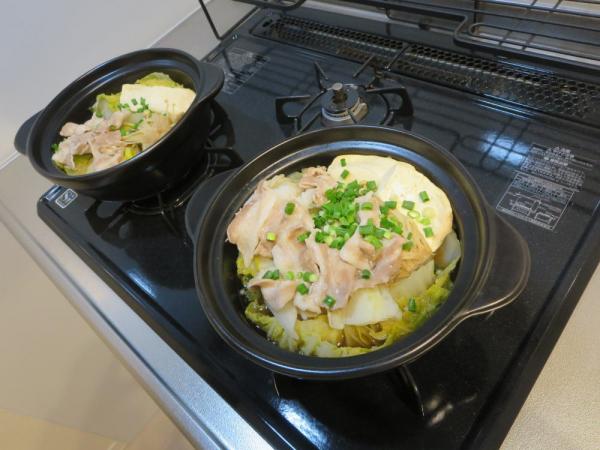 寄せ鍋しょうゆ(鍋キューブ)でひとり鍋