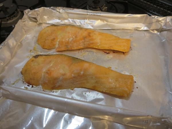 鮭をオーブントースターで焼く