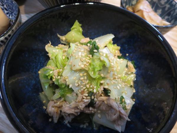 ツナニラ白菜煮