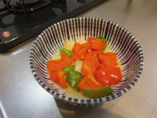 野菜を電子レンジで加熱