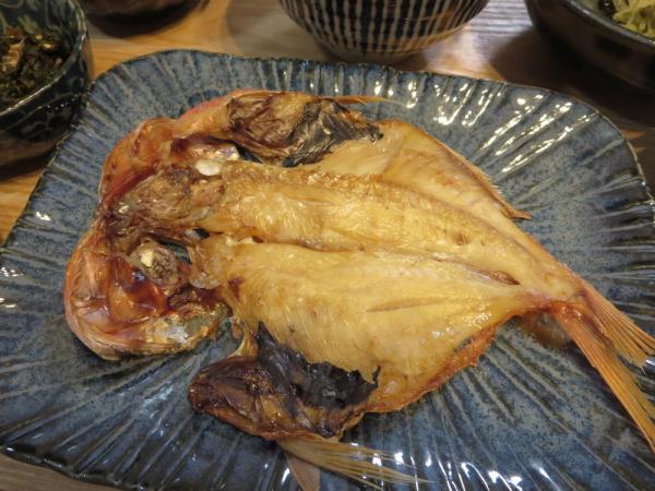焼魚(金目鯛の開き)