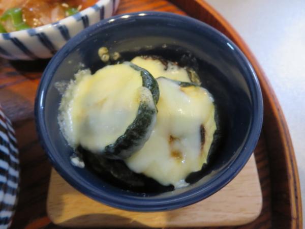 グリルズッキーニのチーズ焼き