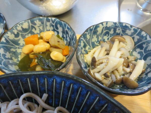 しめじ煮、煮豆