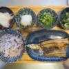 焼魚(さんまの開き)の献立