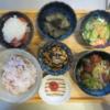 中華風肉団子と野菜の献立