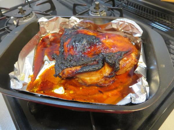 鶏もも肉をグリル名人(グリルパン)で焼く
