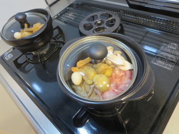 鶏釜めし風を炊く